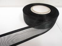 25mm Edged Organza Ribbon 2 metres or 25 metre roll double sided Satin UK